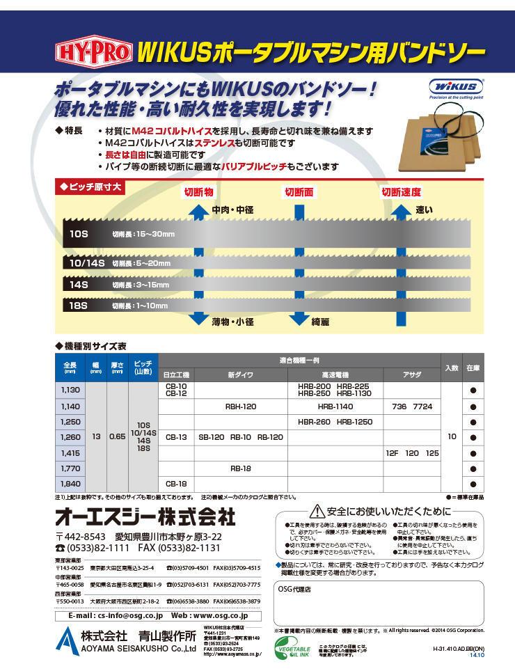 HY-PRO Wikus Portable Machine Bandsaw (JPN)
