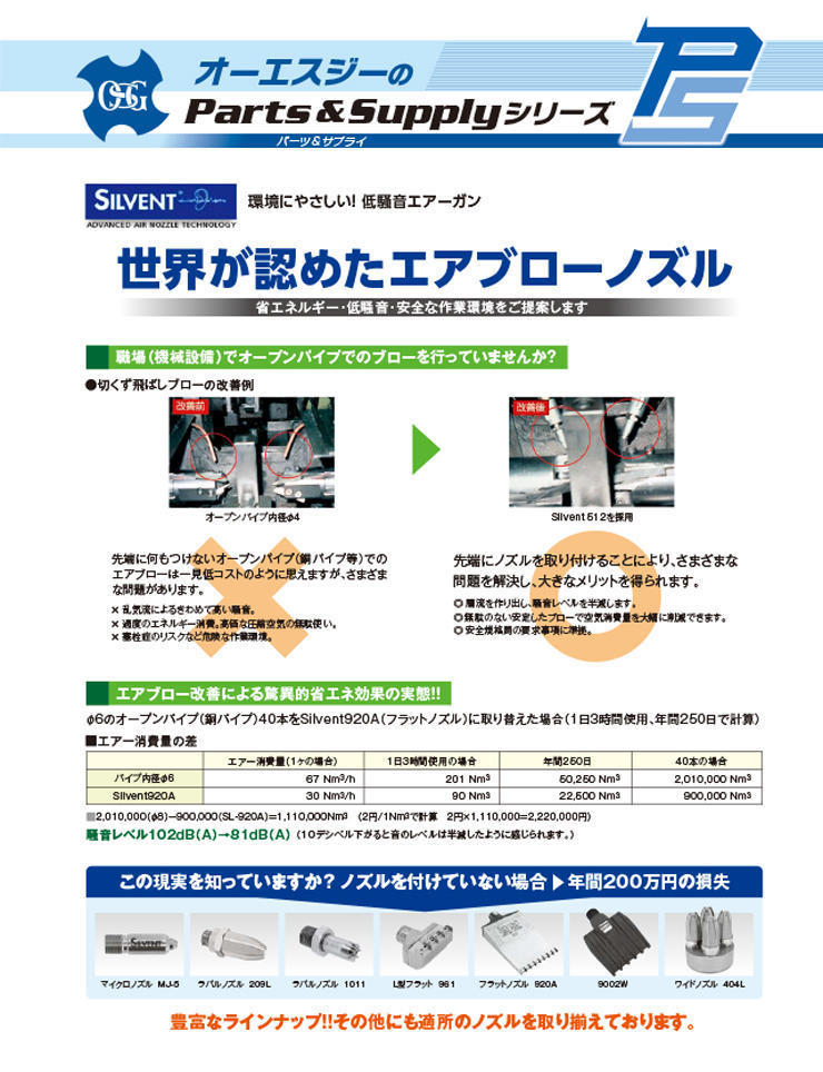 Parts & Accessories : Silvent AB (JPN)