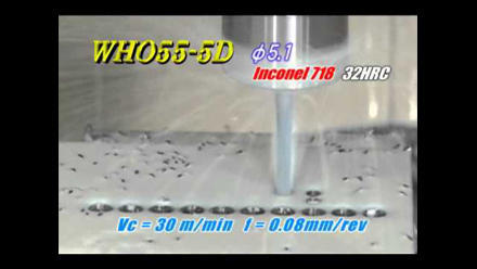 WHO55-5D: Carbide Drill for High Hardness Steel (~55HRC)