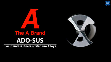 ADO-SUS: Carbide  Drill For Stainless Steel and Titanium Alloy