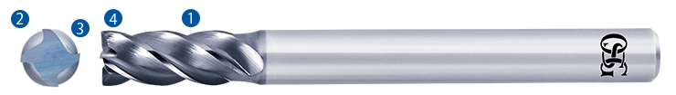 Anti-Vibration Carbide End Mill Features