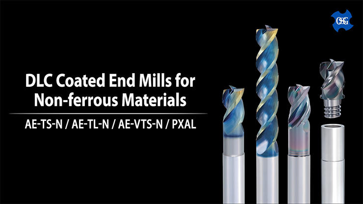 DLC Coated End Mills for Non-ferrous Materials
